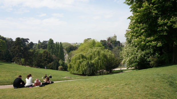 Park Buttes Chaumont Wiese