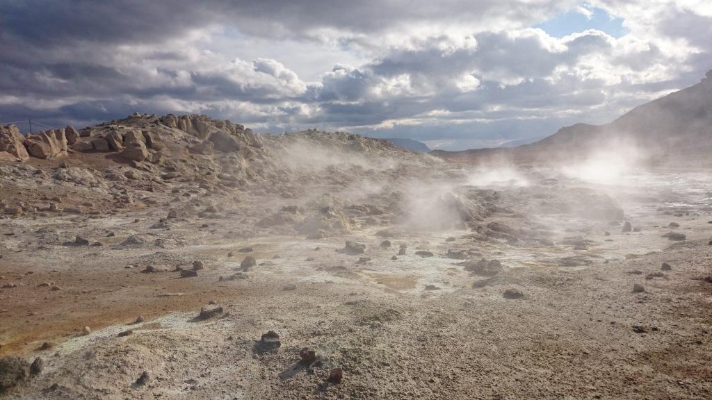 Island heiße Quellen Myvatn