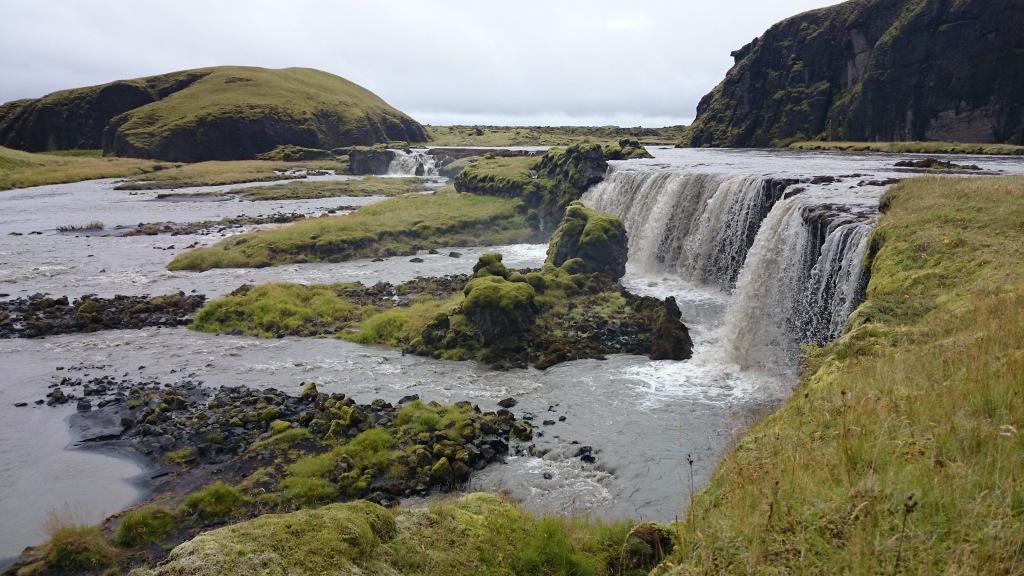 Island Süden Wasserfall