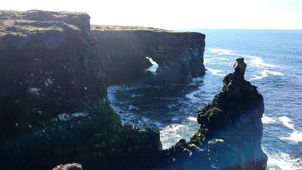 Island Snaefellsness Klippe Westen