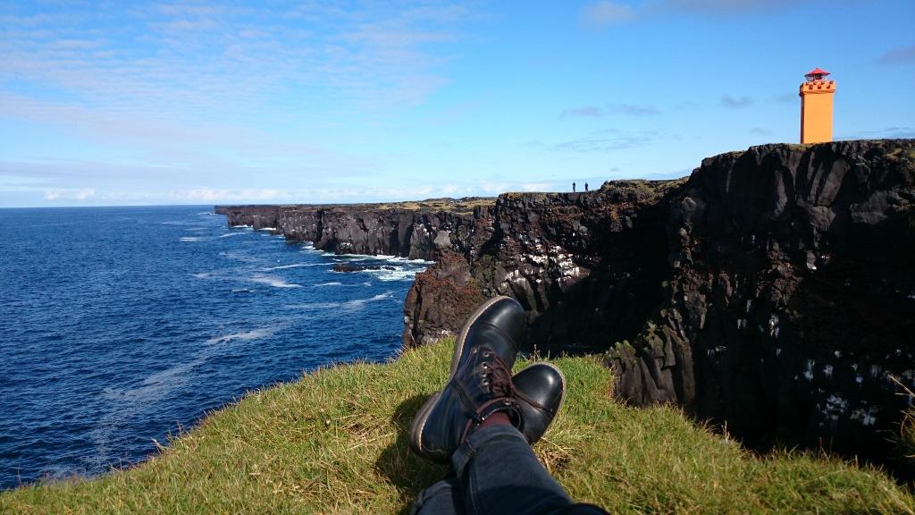 Island Snaefellsness Klippe