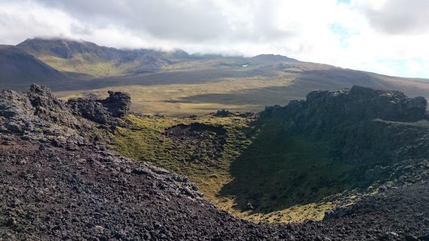 Island Snaefellsness Vulkankrater