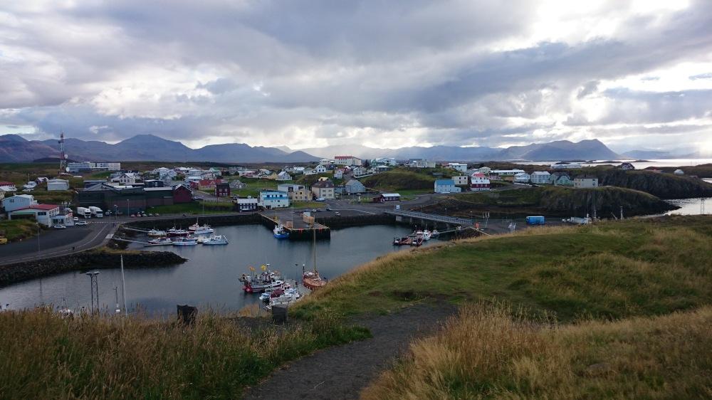 Island Stykkisholmur Aussicht Stadt